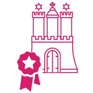 Karriere Icon: Hamburg Burg mit Auszeichnung