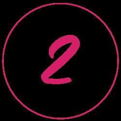 Tippgeber werden Icon: Zahl 2 im Kreis