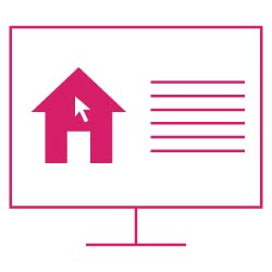 Icon: Computer und Immobilienbewertungs- Formular zum Ausfüllen