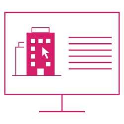 Icon: Bewertungsformular für Wohnungsverkauf auf Computer