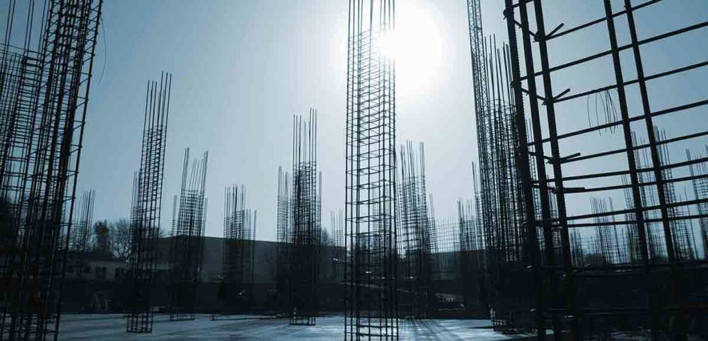 Baustelle auf Grundstück für das der Bodenrichtwert ermittelt wurde