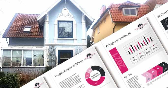 Die Hausbewertung: Ein Haus mit Magazinen zur Hausbewertung
