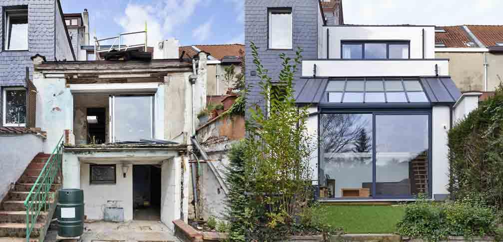 Altes Haus und ein neues Haus für das der Zeitwert berechnet werden soll