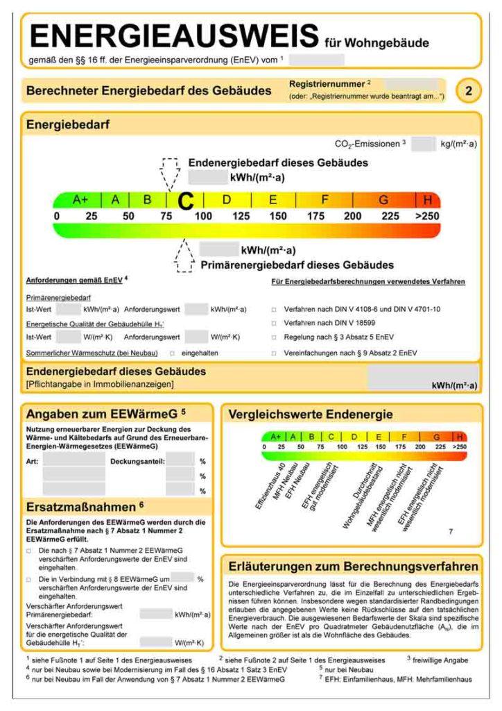 Energieausweis: Bedarfsausweis