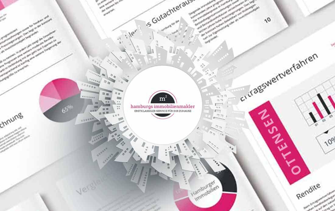 Bewertungen von Immobilien aus Hamburg Ottensen mit Logo von Hamburgs Immobilienmakler
