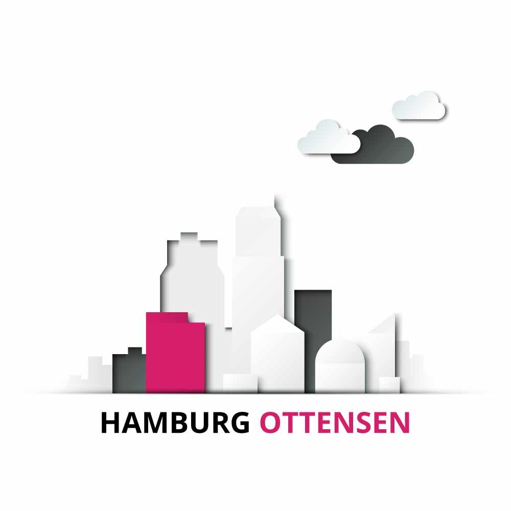 Makler Ottensen: Stadt Hamburg mit dem Stadtteil Ottensen markiert